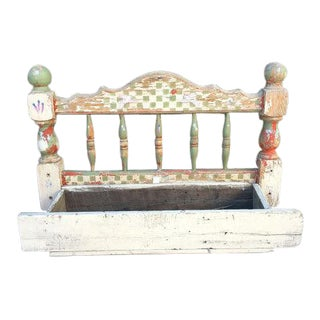 Vintage Distressed Wood Bed Frame Planter