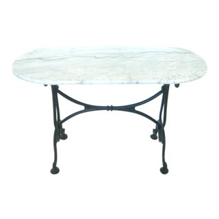White Italian Marble Console/Bistro Table