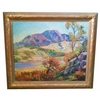 Vintage Impressionist Landscape