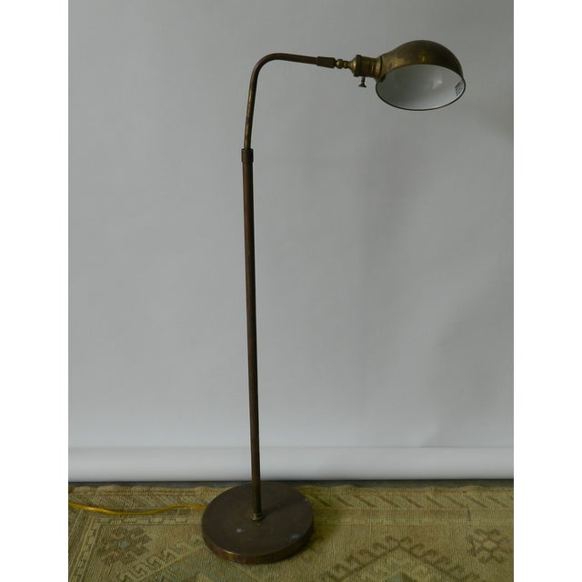 Vintage Brass Dome Floor Lamp - Image 2 of 6