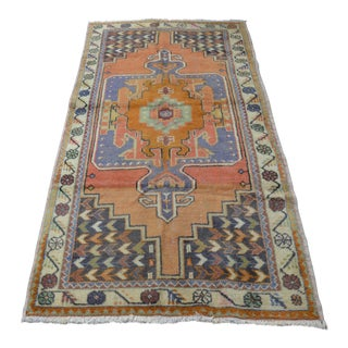 Turkish Oushak Rug- 3′10″ × 7′9″