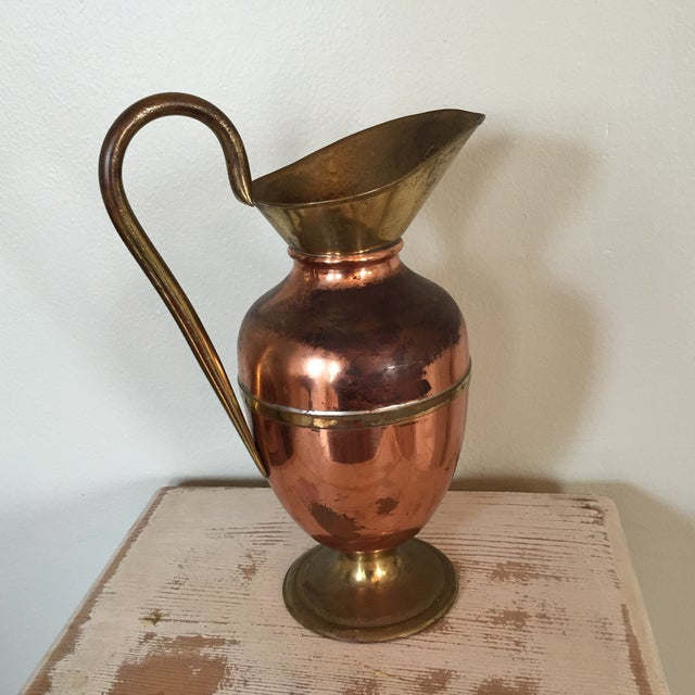 Image of Brass and Copper Pitcher