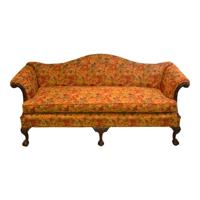 Upholstered Camelback Sofa - Image 1 of 3