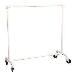 Steel & Cast IRon White Clothing Rack