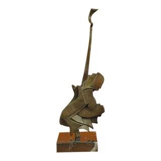 Modern Guitar Bronze Sculpture
