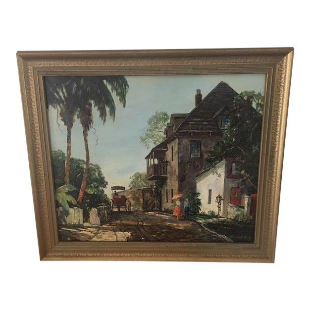 Vintage Emmett Fritz St Augustine Fl Oil Painting Chairish