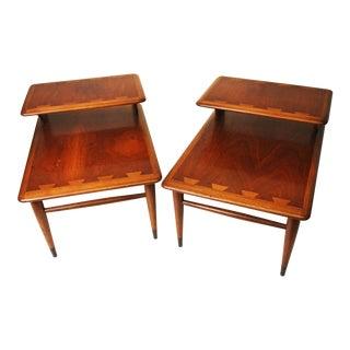 Mid Century Modern Lane Acclaim Step Tables - A Pair