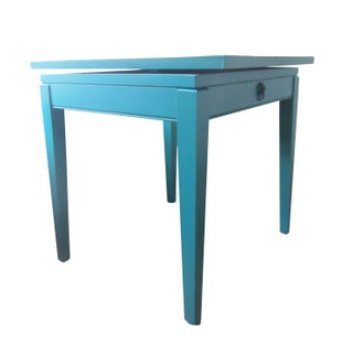 Hand Painted Dark Aqua Table