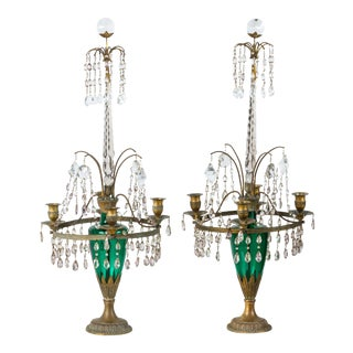 Neoclassical Candelabra Pair 19thC Swedish or Baltic