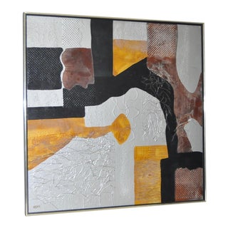 Mixed Media Abstract Painting by COFI (Jean-Christian Villat) c.1980s