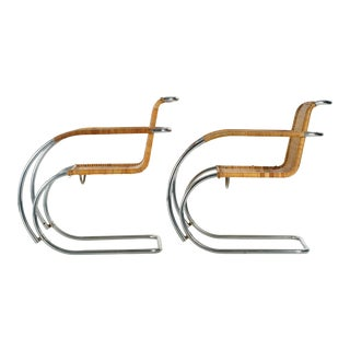 Mies Van Der Rohe Mr20 Arm Chairs C. 1960's - Pair