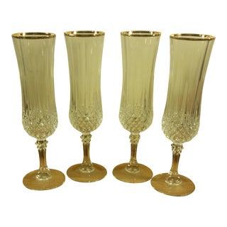 Cristal D' Arques Champagne Glasses - Set of 4
