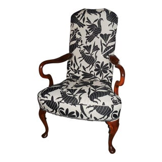 Hickory 1970's Queen Anne Otomi Armchair