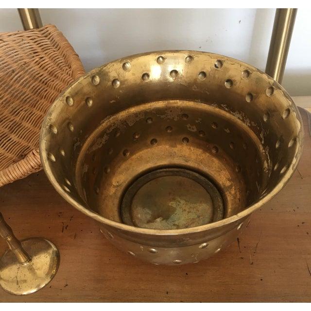 Vintage Hobnail Brass Planter - Image 5 of 6
