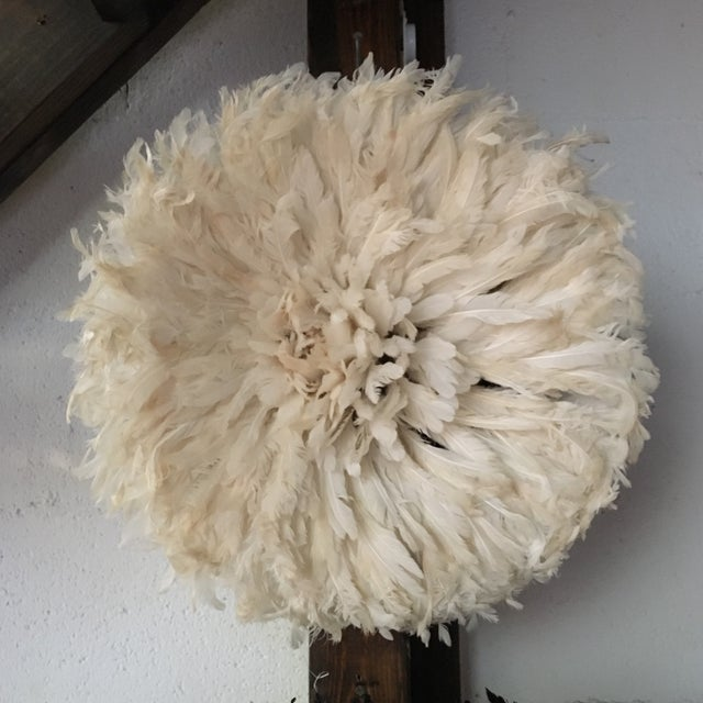 African Cameroon White Juju Hat - Image 2 of 3
