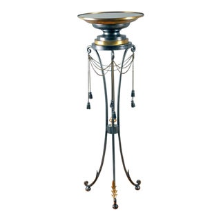 Neoclassical Glass Topped Scrollwork Display Stand