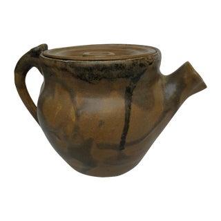 Vintage Ceramic Drip Glazed Teapot