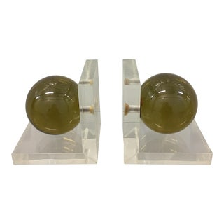 Ritts Lucite Bookends - A Pair
