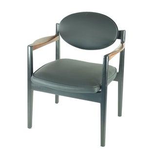 Jens Risom Sculpted Walnut Arm Chair