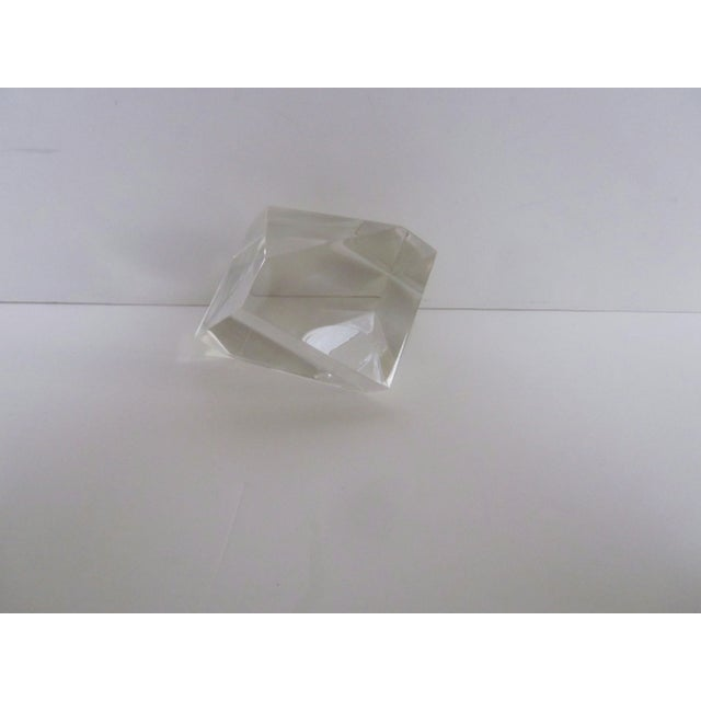 Sculptural Lucite Modernist Paperweight - Image 2 of 5