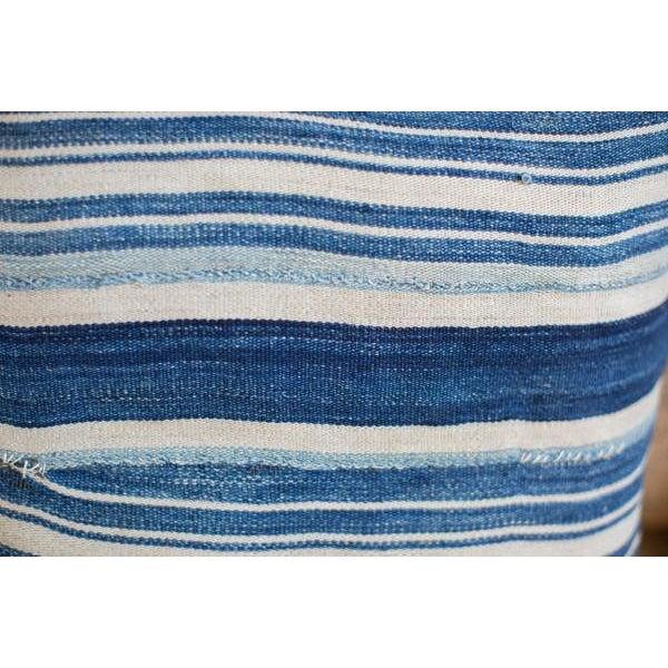 Striped Indigo Throw Pillow - Image 5 of 6