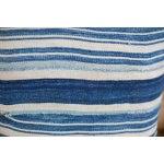 Image of Striped Indigo Throw Pillow