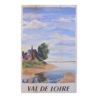 1949 French Vintage Travel Poster, Val de Loire