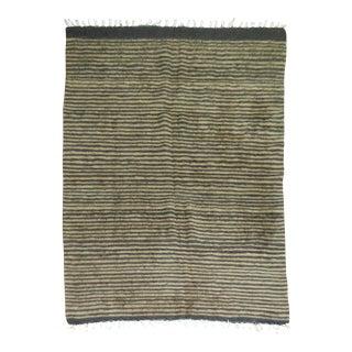 Vintage Striped Mohair Rug - 4'4'' x 5'11''