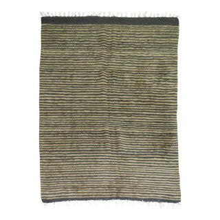 Vintage Striped Mohair Rug - 4'4'' x 5'11''