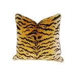 Image of Designer Scalamandre LeTigre Fabric Mohair Pillow