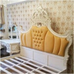 Image of French Upholstered Rococo King Bed