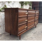Image of Mid-Century 9 Drawer Dresser