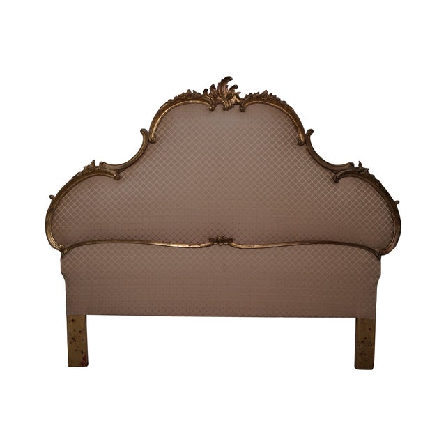 Vintage Italian Gilt Wood Rococo Queen Headboard - Image 1 of 10