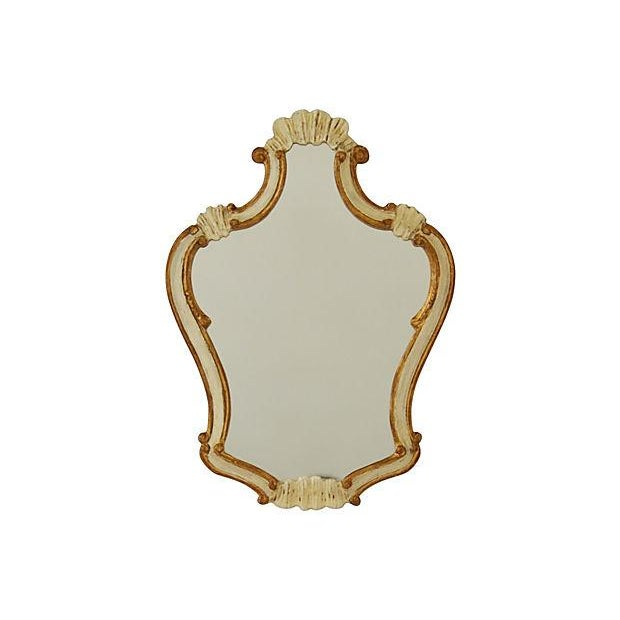 Carved Ivory Gilt Mirror - Image 1 of 3