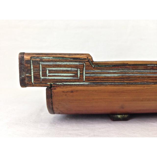 Image of Split Bamboo Stalk Utensils Tray
