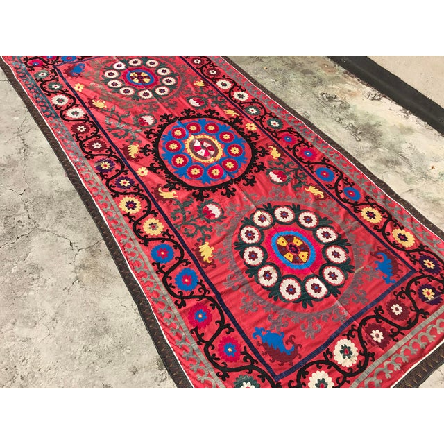 Antique Handmade Suzani Tapestry - Image 4 of 5
