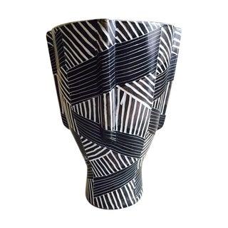 Vintage Kenyan Modern Soapstone Etched Art Vase