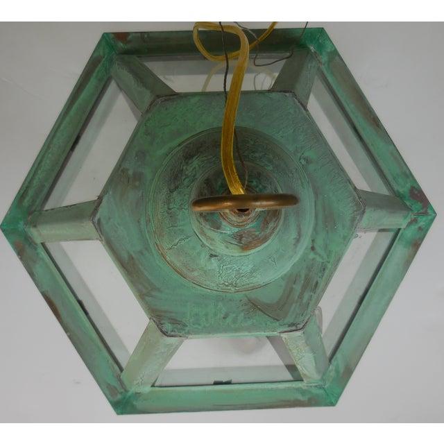 Hexagon Shabby Chic Hanging Copper Lantern - Image 7 of 11