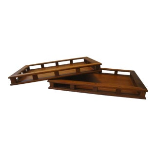 Jens Quistgaard Dansk Teak Serving Trays - a Pair