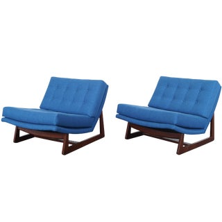 Vintage Tufted Lounge Chairs