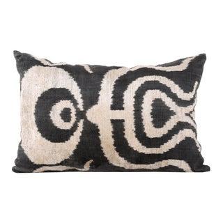 Ottoman Silk Velvet Ikat Pillow
