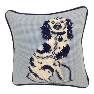 Staffordshire Dog Needlepoint Pillow