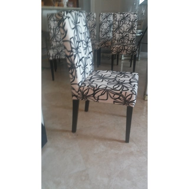 Black & White Parsons Dining Chairs - Set of 6 - Image 5 of 7