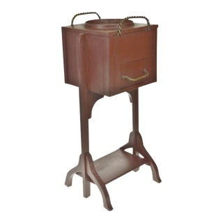 Vintage Wooden Smoking Stand