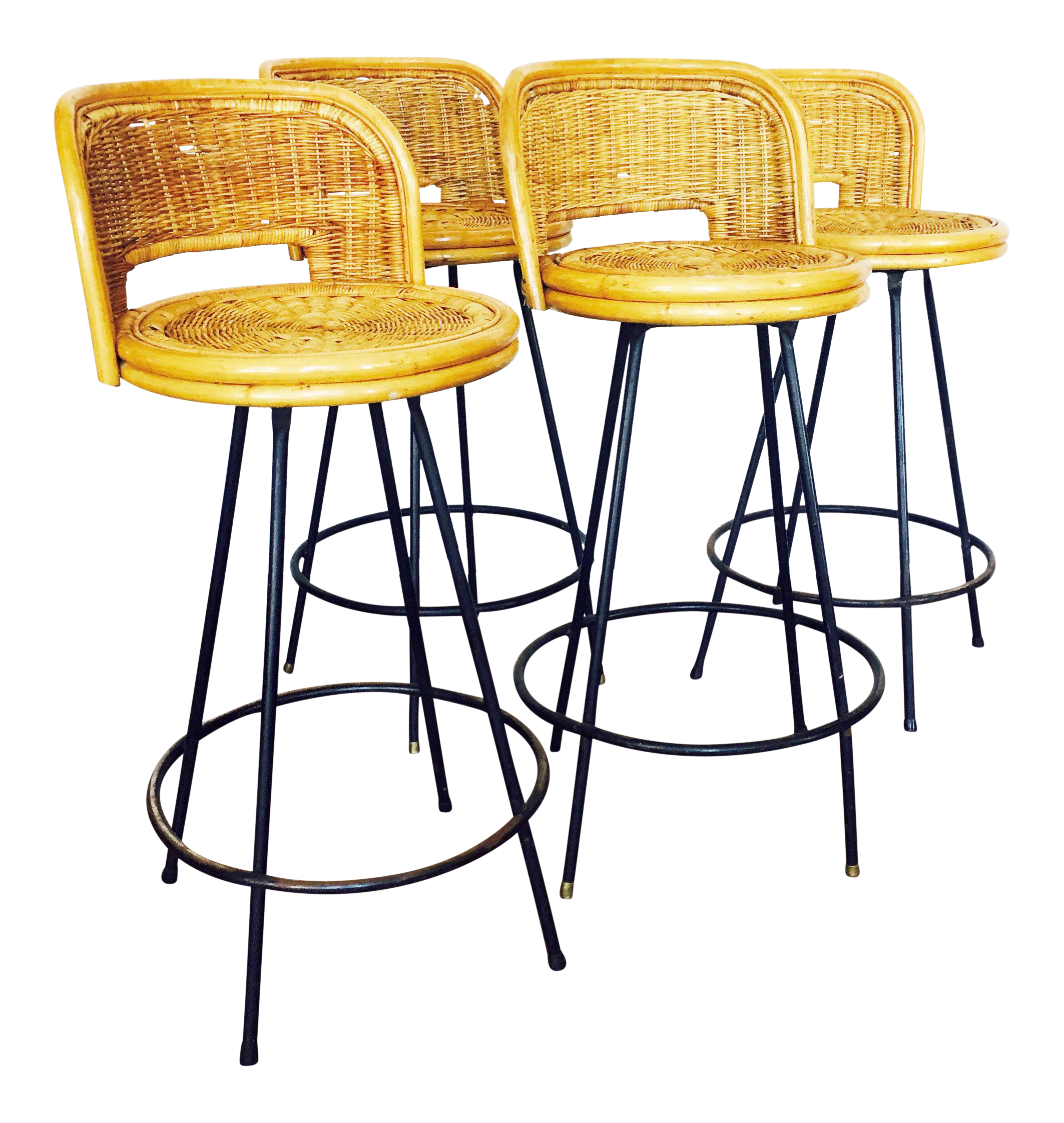 Vintage Rattan amp Wrought Iron Bar Stools Set of 4 Chairish : 5e35c47e 27bf 43c8 a851 e2852f06ee3caspectfitampwidth640ampheight640 from www.chairish.com size 640 x 640 jpeg 59kB