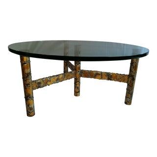 Paul Evans Style Brutalist Coffee Table
