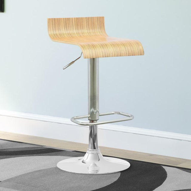 Image of Contemporary Adjustable Bar Stool - A Pair