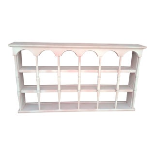 Vintage Painted Wall Display Shelf