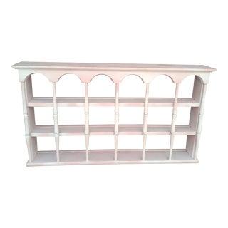 Vintage Painted Wall Display Shelf