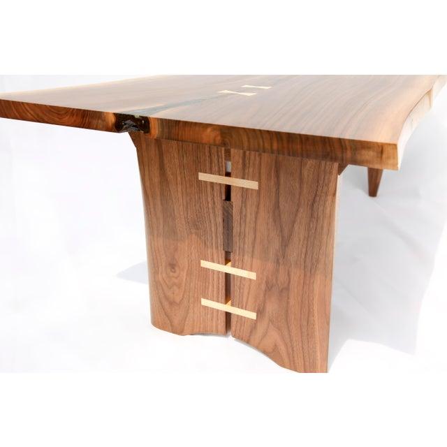 Mid-Century Modern Walnut Live Edge Slab Coffee Table - Image 3 of 6